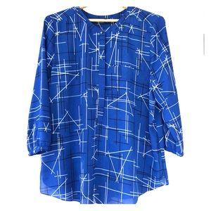 NYDJ Blue Blouse Size XL